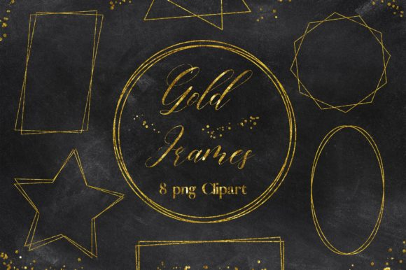 Gold Frames Clipart Graphic Backgrounds By PinkPearly