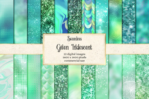 Print on Demand: Green Iridescent Textures Graphic Textures By Digital Curio