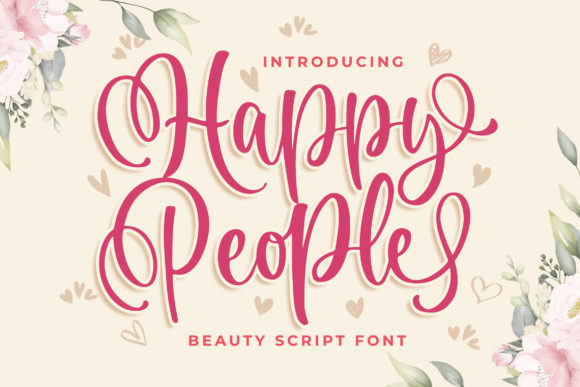 Print on Demand: Happy People Manuscrita Fuente Por Blankids Studio