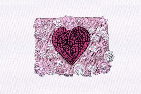 Heart and Flowers Valentine's Day Embroidery Design By DigitEMB