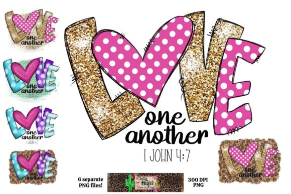 Love One Another Valentine's Day Dye Sub Graphic