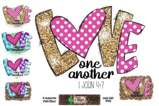 Print on Demand: Love One Another Valentine's Day Dye Sub Graphic Crafts By Crazy Heifer Design Shoppe