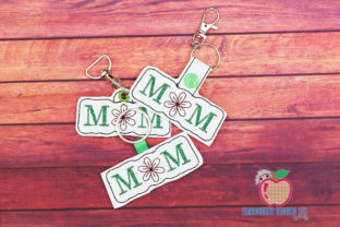 Mom in the Hoop Keyfob Mother's Day Embroidery Design By embroiderydesigns101