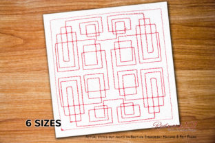 Mosaic Seamless Quilting Intricate Cuts Embroidery Design By Redwork101