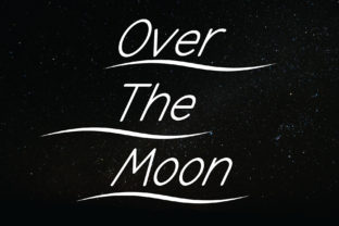 Print on Demand: Over the Moon Sans Serif Font By Designvector10