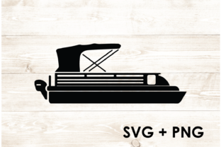 Print on Demand: Pontoon Boat Lake Summer Vacation SVG Graphic Print Templates By Too Sweet Inc