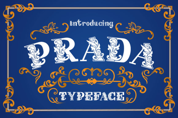 Print on Demand: Prada Decorative Font By Alit Design