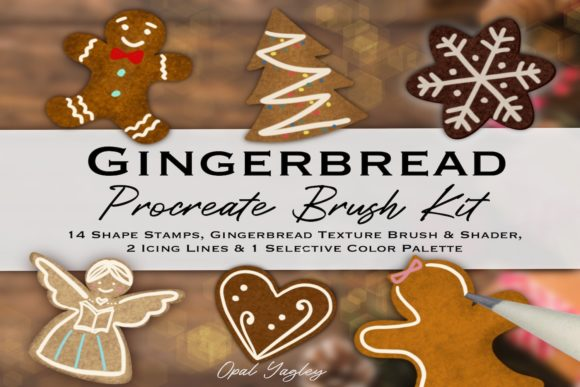 Print on Demand: Procreate Gingerbread Brush Kit Graphic Brushes By opal.yagley