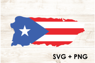 Print on Demand: Puerto Rico Shape Clipart Silhouette Graphic Print Templates By Too Sweet Inc