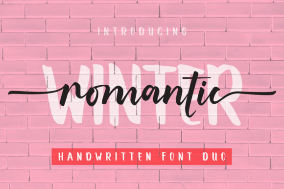 Print on Demand: Romantic Winter Script & Handwritten Font By Graphix Line Studio