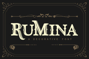 Print on Demand: Rumina Display Font By The1stWinner