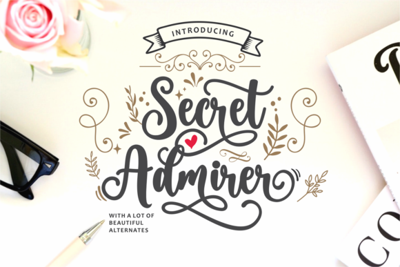 Print on Demand: Secret Admirer Script & Handwritten Font By Nun Creatype