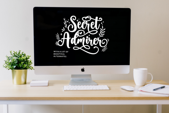 Secret Admirer Font Design Item