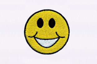 Smiling Yellow Emoji Friends Embroidery Design By DigitEMB