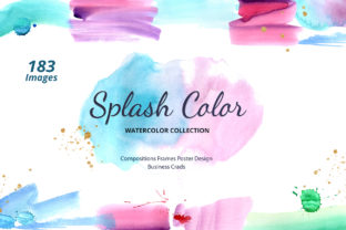 Splash Colorful Rainbow Watercolor Grafik Illustrationen von WatercolorEps
