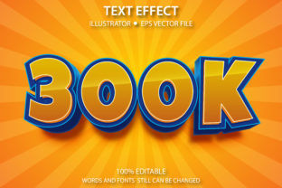 Print on Demand: Text Style Effect 300K Premium Graphic Graphic Templates By yosiduck