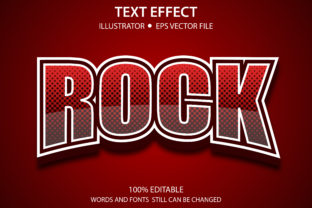 Print on Demand: Text Style Effect Modern Rock Premium Graphic Graphic Templates By yosiduck