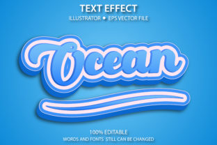 Text Style Effect Ocean Premium Graphic Graphic Templates By yosiduck