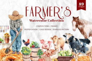 The Farmer's Garden Watercolor Graphic Illustrations By WatercolorEps