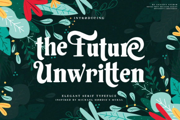 Print on Demand: The Future Unwritten Serif Font By lickermelody