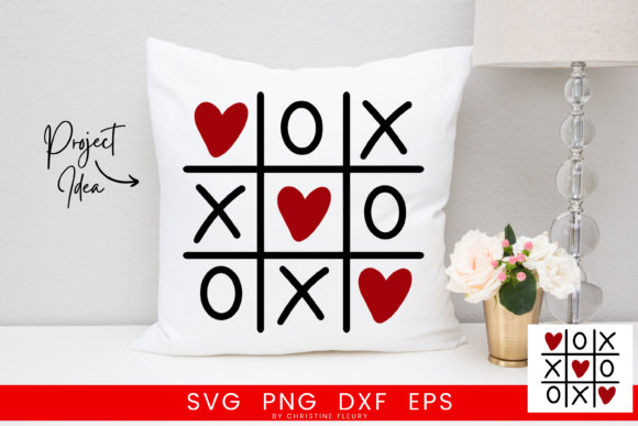 Print on Demand: Tic Tac Toe Love Graphic Crafts By Christine Fleury