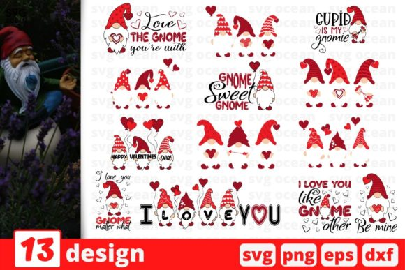 Valentines Day Gnomes SVG Bundle Graphic Crafts By SvgOcean