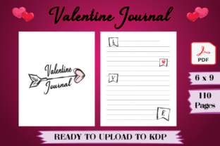Print on Demand: Valentine's Day Journal Unique for KDP Graphic KDP Interiors By Tatus Brinal