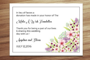 Print on Demand: Wedding Favor Donation Card Template Graphic Print Templates By sistecbd