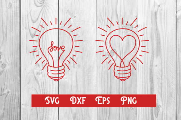 Print on Demand: Lamp Love, Valentines Love Svg Cut File Graphic Print Templates By dadan_pm
