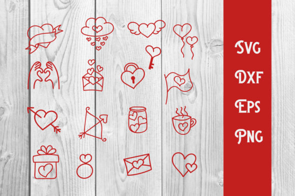 Print on Demand: Valentines Doodle Handrawn Graphic Print Templates By dadan_pm