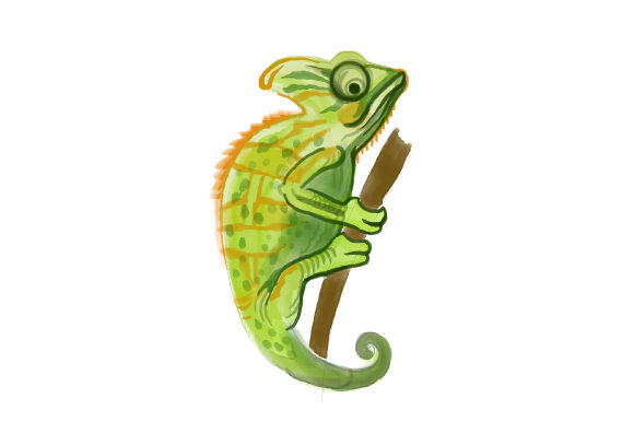 Chameleon Animals Craft Cut File By Creative Fabrica Crafts