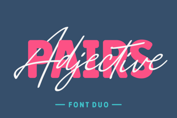 Print on Demand: Adjective Pairs Script & Handwritten Font By Situjuh