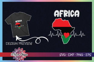 Africa Map Heart Beat Svg Graphic Print Templates By ssflower