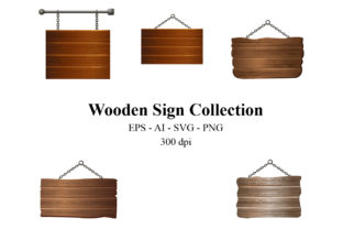 Blank Wooden Sign Collection Graphic Crafts By Ka Design