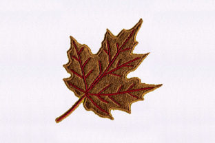 Brown Maple Leaf Design Africa Embroidery Design By DigitEMB