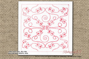Butterfly Quilting Designs Redwork Intricate Cuts Embroidery Design By Redwork101