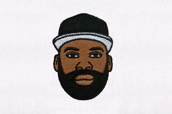 Calm Bearded Man Design Clothing Embroidery Design By DigitEMB