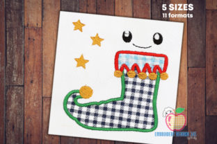 Christmas Elf Shoe Beauty Embroidery Design By embroiderydesigns101