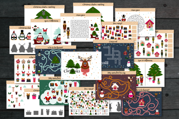 Christmas Games and Activities Graphic Graphic Templates By Igraphic Studio