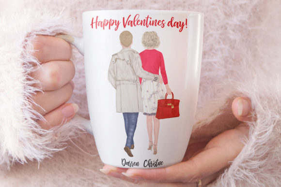 Couples Clpart Elegant Man and Women Graphic Image