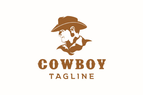 Cowboy Head Silhouette Logo Design Graphic Logos By Weasley99