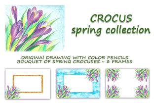 Print on Demand: Crocus. Spring Collection Graphic Illustrations By LisArt