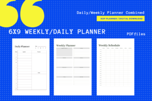Print on Demand: Daily/Monthly Planner 6x9 KDP Planner Graphic KDP Interiors By MarinovaDesigns