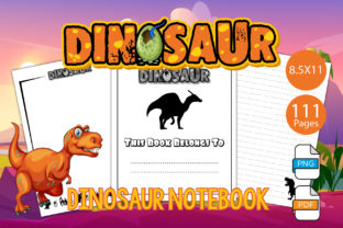 Print on Demand: Dinosaur Notebook and Journal Graphic KDP Interiors By IsaraDesign