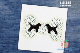 Dog Bone Dogs Embroidery Design By embroiderydesigns101