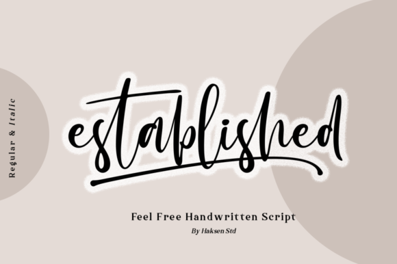 Print on Demand: Established Script & Handwritten Font By Haksen
