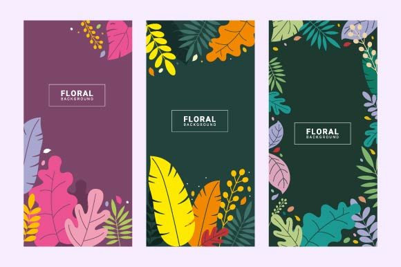 Floral Background with Gradient Colors Graphic Backgrounds By Freshcare