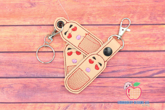 Funny Capsule ITH Key Fob Pattern Teenagers Embroidery Design By embroiderydesigns101