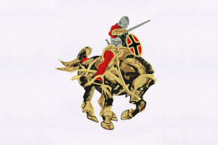 Horse Gallant Knight Design Military Embroidery Design By DigitEMB