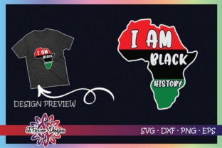 I Am Black History Africa Map Graphic Print Templates By ssflower